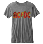 T-shirt AC/DC Burn-out: Logo