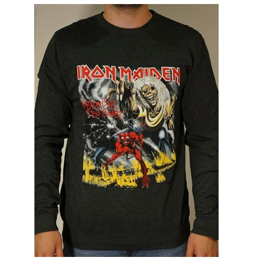 Sweatshirt Iron Maiden: Number of the Beast