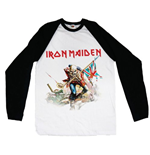 T-shirt Manches Longues Raglan Iron Maiden: Trooper