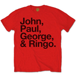 T-shirt The Beatles: John, Paul, George & Ringo