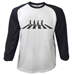 T-shirt The Beatles Manches Longues Raglan: Abbey Road Crossing