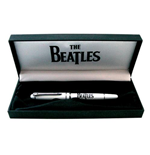 Stylo Cadeau The Beatles: Drop T & Apple Logo (Patch Blanc)
