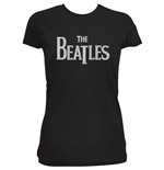 T-shirt Beatles: Logo Drop T en Strass