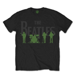 T-shirt The Beatles: Saville Row Lie Up with White Silhouettes