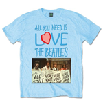 T-shirt The Beatles: All you need is love Playcards