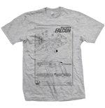 T-shirt Star Wars: Millennium Falcon
