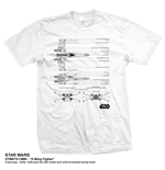 T-shirt Star Wars: X-Wing Fighter