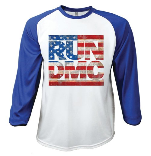 4a06deb17a1fb Achetez T-shirt Manches Longues Raglan Run DMC  Americana (Taille L)