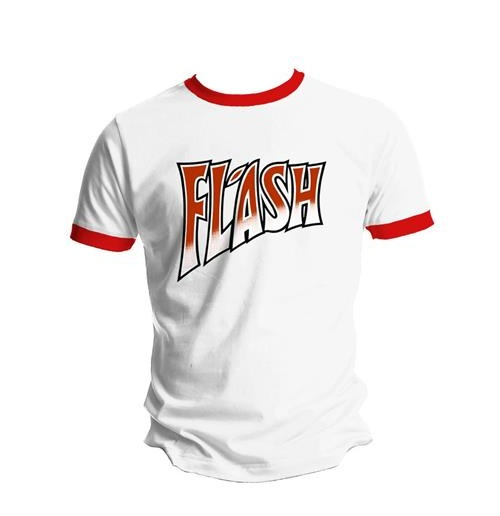 T-shirt Queen: Flash White and Red Ringer