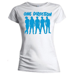 T-shirt One Direction: Silhouette Blue on White