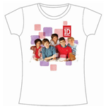 T-shirt One Direction: 1D Squares Group