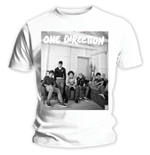 T-shirt One Direction: Band Lounge Black & White