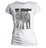 T-shirt One Direction: Group Standing Black & White