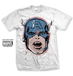 T-shirt Marvel Comics: Captain America Big Head Distressed