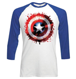 T-shirt Marvel Comics Manches Longues: Captain America Splat