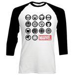 T-shirt Manches Longues Marvel Comics: Marvel Icons