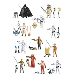 Figurines Star Wars Snow/Desert Vague 2 Assortiment de 12 - 10 cm 2015