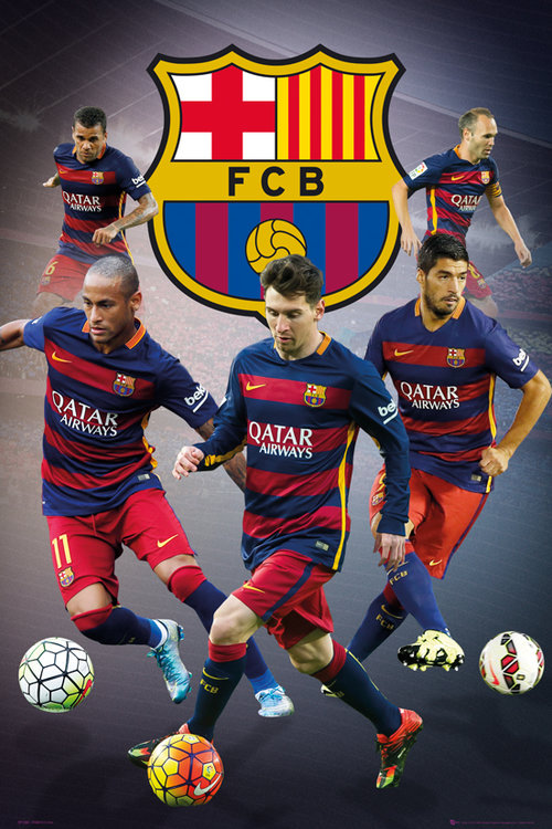 Poster FC Barcelone Joueurs Star