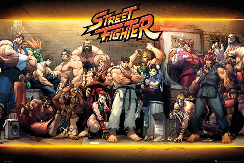 Poster Street Fighter Personnages