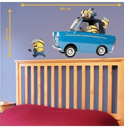 autocollant mural les minions voiture pour seulement 17 99 sur merchandisingplaza. Black Bedroom Furniture Sets. Home Design Ideas