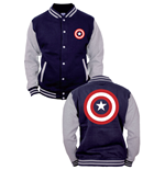 Veste Captain America - Logo Shield Baseball Varsity