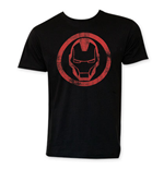 T-shirt Iron Man Black Circle Logo