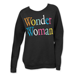 Sweat-shirt Junk Food Wonder Woman - Lettres Arc-en-ciel
