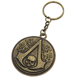 Porte-clés Assassins Creed - Round Metal Crest & Skull