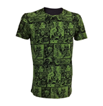 T-shirt Marvel Comics L'Incroyable Hulk Classic Green Comic Strip, Taille L