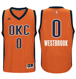 Maillot de Basketball New Swingman Alternate Oklahoma City Thunder Russell Westbrook Adidas Orange Sans Manches