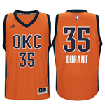 Maillot de Basketball New Swingman Alternate Oklahoma City Thunder Kevin Durant Adidas Orange