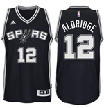 Maillot de Basketball New Swingman San Antonio Spurs LaMarcus Aldridge Adidas Noir