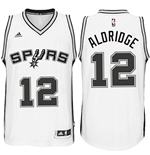 Maillot de Basketball New Swingman San Antonio Spurs LaMarcus Aldridge Adidas Home Blanc