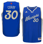 Maillot de Basketball Swingman Golden State Warriors Stephen Curry Adidas Jour de Noël 2016 Bleu