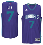 Maillot de Basketball New Swingman Charlotte Hornets Jeremy Lin Adidas Alternate Violet