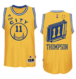 Maillot de Basketball Swingman Golden State Warriors Klay Thompson Hardwood Classics Jaune