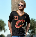 Maillot de Basketball New Swingman Cleveland Cavaliers LeBron James Adidas Manches Courtes Noir