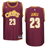 Men's Cleveland Swingman Cavaliers LeBron James Adidas Hardwood Classics Bordeaux