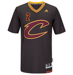 Maillot de Basketball New Swingman Cleveland Cavaliers Kyrie Irving Adidas Manches Courtes Noir