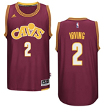 Maillot de Basketball Swingman Cleveland Cavaliers Kyrie Irving Adidas Hardwood Classics Bordeaux