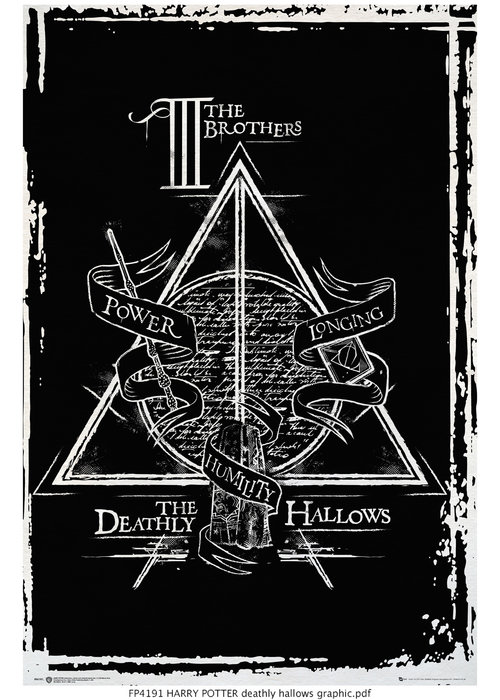 Poster Harry Potter Deathly Hallows Graphic