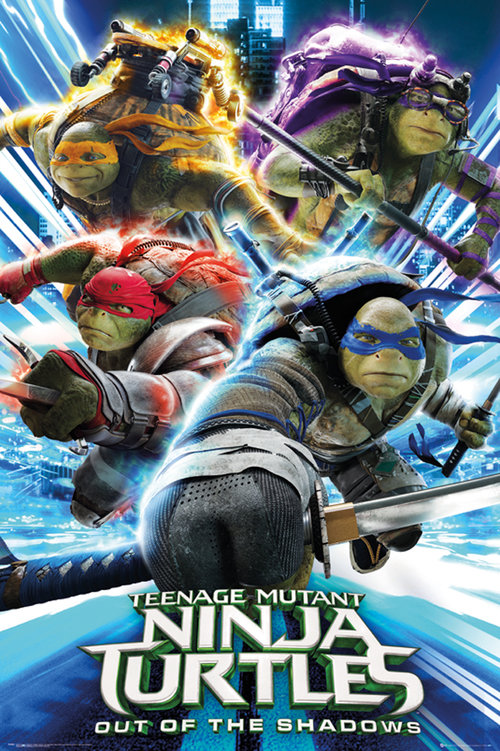 Poster Tortues Ninja 2 Groupe