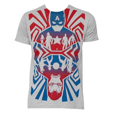 T-shirt Captain America Opposing Forces Gris