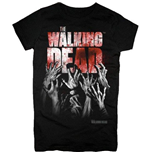 T-shirt The Walking Dead - Hands Blood Splatter