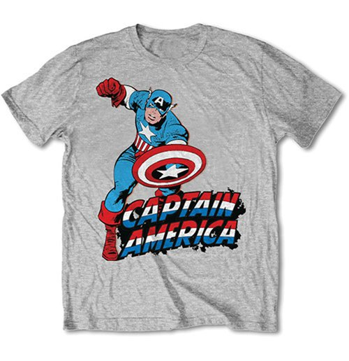 T-shirt Marvel Comics - Simple Captain America