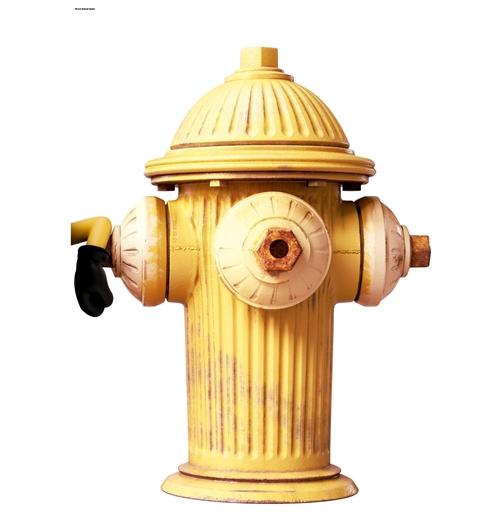 Autocollants muraux les minions fire hydrant pour for Autocollant muraux