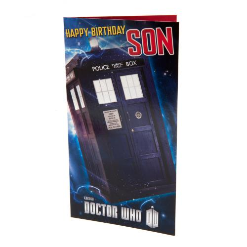 Carte d'Anniversaire Doctor Who