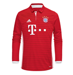 Maillot de Football Manches Longues Bayern Munich Adidas Home 2016-2017 (Enfants)