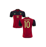 Maillot de Football Belgique Home 2016-2017 (Hazard 10) - Enfants