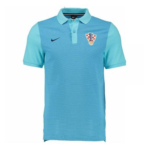 Polo Croatie Nike Authentic Grand Slam Slim 2016 2017 (bleu)